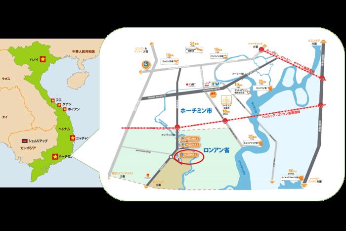 ベトナム工場地図